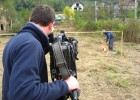 Filming mine field clearing in Sarajevo, Bosnia (BBC Scotland)