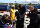 Interviewing Dizzee Rascal backstage at T in the Park (BBC)
