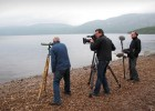 Filming with full-time Loch Ness monster hunter Steve Feltham for 'Daily Planet' (Discovery Channel Canada)