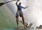 Golfer Rafael Cabrera-Bello falls from his paddle board, South Beach Miami (ETW feature, IMG Media)