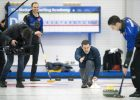 Filming Matt Baker with the Scottish Olympic Curling Team (Countryfile, BBC) - Photo: Graeme Hart
