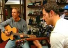 Jonny Wilkinson at home jamming with presenter Matt Baker ('Jonny's Hotshots' CBBC)