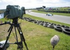 Filming Formula 3 at Knockhill for Channel 4