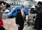 Filming the arrival of Gordon Brown for the BBC News Channel