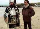 Neil Oliver and the 'Guizer Jarl' - 'Up Helly Aa' feature on Shetland for 'Coast' (BBC)