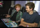 Greg James interviews Ed Sheeran on his tour bus at T in the Park (BBC)