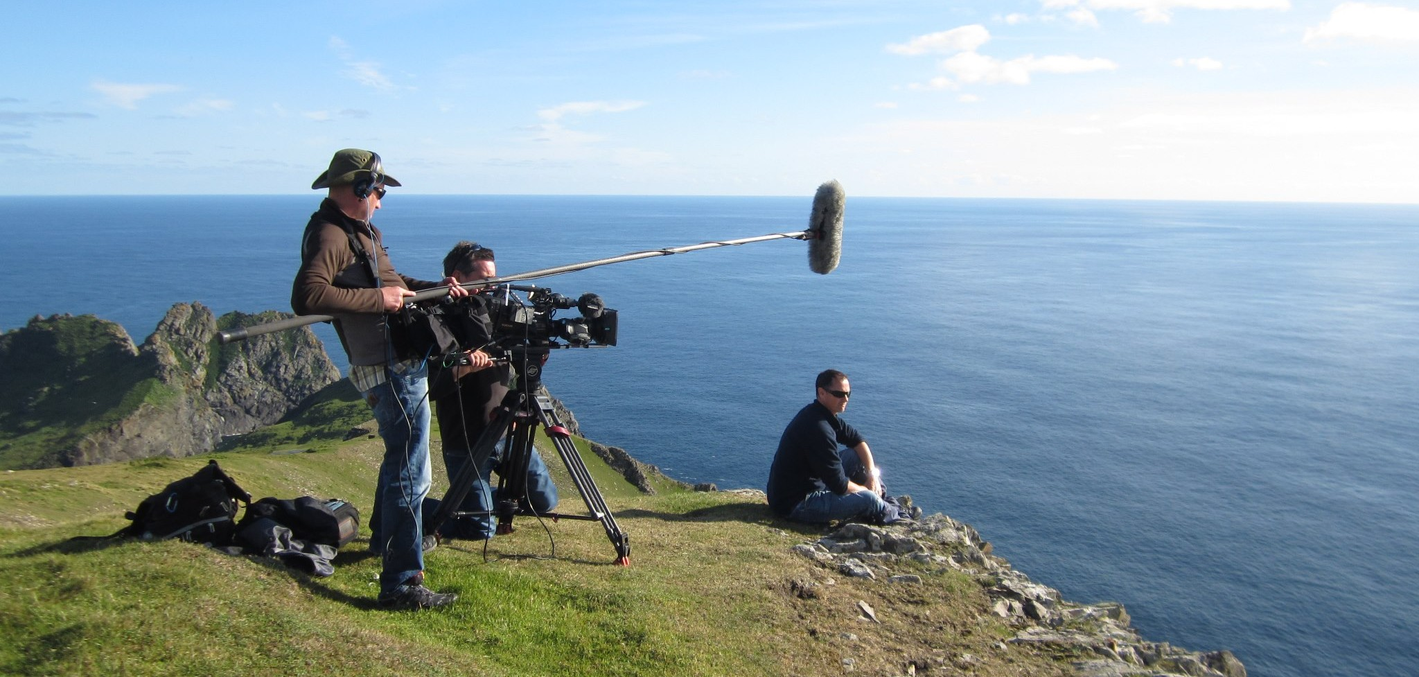 Filming on St Kilda with Solus Productions