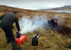 Filming on Gruinard Island with Michael Mosley for a BBC 4 documentary about Porton Down