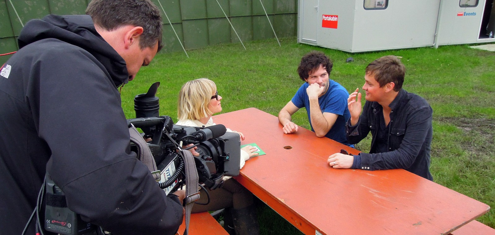 Edith Bowman interviews Keane, T in the Park (BBC)