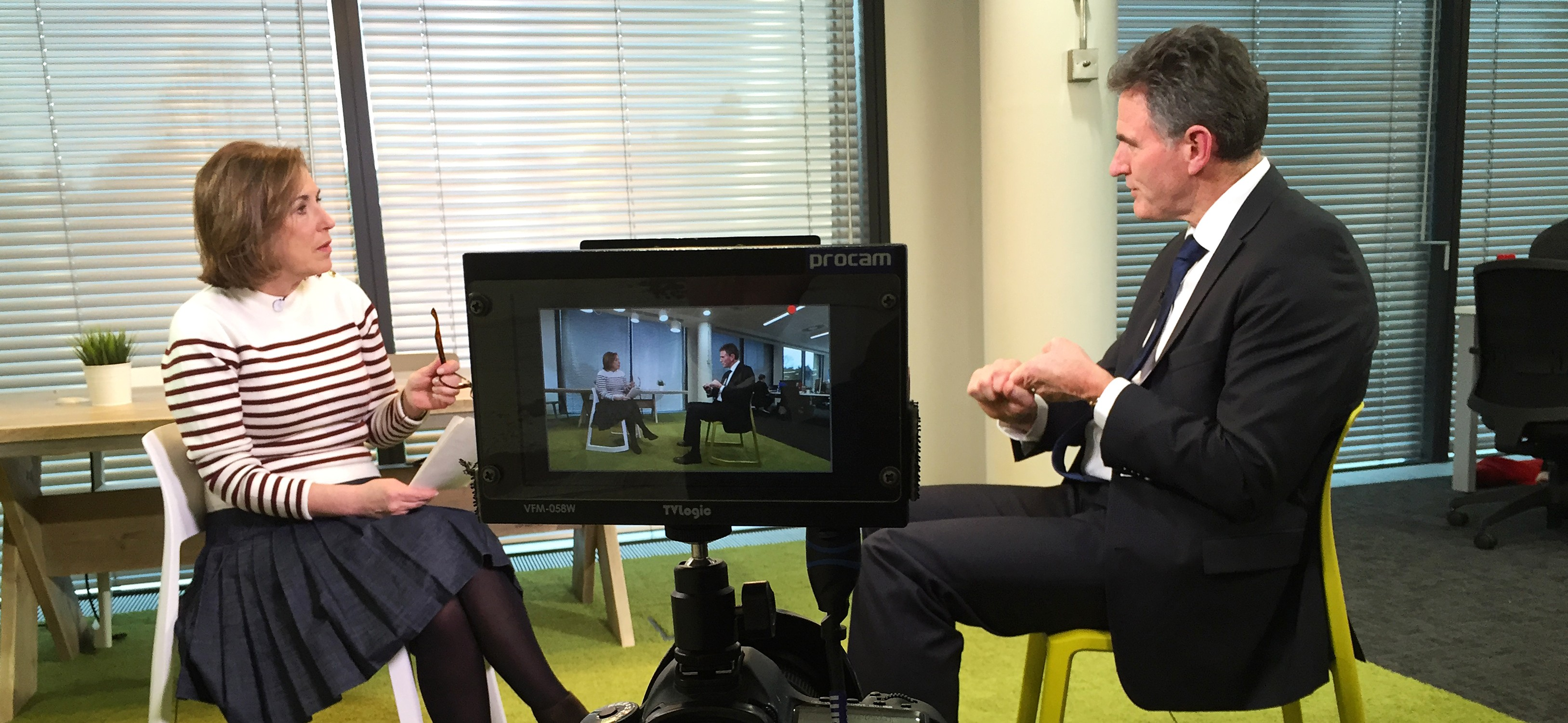Kirsty Wark interview at RBS HQ (BBC Newsnight)