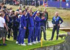 Filming the European Team after their win at the Ryder Cup 2018 (CTV / Sky Sports / World Feed)